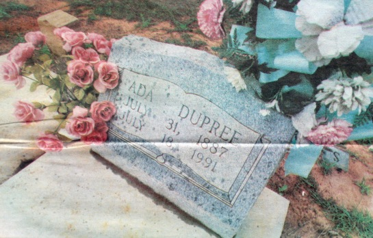Ada Dupree's grave in the